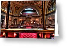 Senate Chamber Greeting Card