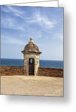 Sentry Box In Old San Juan Puerto Rico Greeting Card