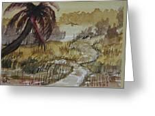 Sepia Sunrise Greeting Card