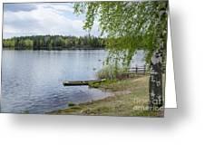 Serene Lake View Greeting Card