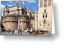 Seville Cathedral In The Old Town Greeting Card