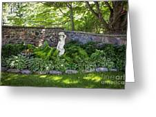 Shady Perennial Garden Greeting Card