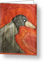 Shaman Original Painting Greeting Card by Sol Luckman
