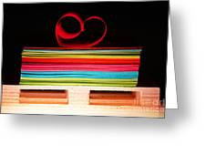 Sheets Of Paper Greeting Card