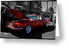 Shelby Gt 500 Mustang Greeting Card