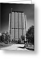 shell centre tower and jubilee gardens southbank London England UK Greeting Card