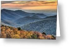 Shenandoah National Park Sunset Greeting Card