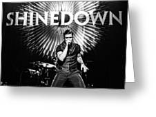 Shinedown  Brent Smith Greeting Card