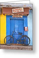 Shop On Street In Goa India Greeting Card
