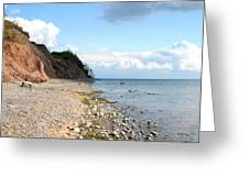 Shore Of Lake Erie Greeting Card