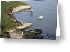 Shoreline Fishing Squares, île Madame Greeting Card