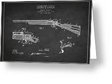 Shotgun Patent Drawing From 1918 Greeting Card