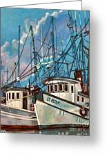 Shrimpboats Greeting Card
