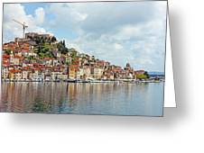 Sibenik Town On Adriatic Sea  Greeting Card