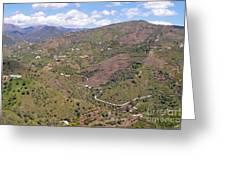 Sierra De Almijara Hills Greeting Card