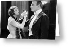 Silent Film Still: Drinking Greeting Card