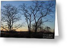 Silhouette At Rye Lake Greeting Card