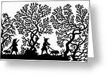 Silhouette Hunting Greeting Card