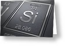 Silicon Chemical Element Greeting Card