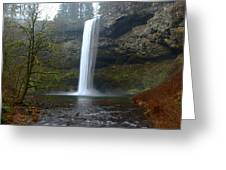 Silver Falls In Winter Greeting Card