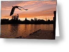 Silver Lake Sunset Greeting Card