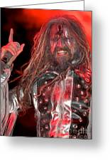 Singer Rob Zombie Greeting Card