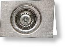 Sink Plug Greeting Card by Tim Hester