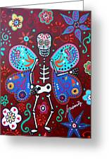 Skellyfly Day Of The Dead Greeting Card