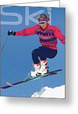 Ski 3 Greeting Card