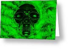Skull In Green Greeting Card