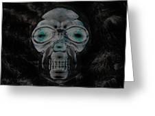 Skull In Negative Greeting Card