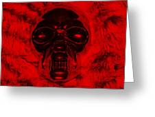 Skull In Red Greeting Card