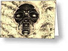 Skull In Sepia Greeting Card