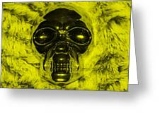Skull In Yellow Greeting Card