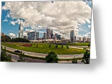 Skyline Of Charlotte Towers Greeting Card