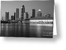 Skyline Of Tampa Along Waterfront Greeting Card