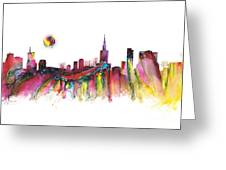 Skyline Warsaw Greeting Card