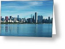 Skylines At The Waterfront, Lake Greeting Card