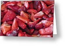 Sliced Strawberries Greeting Card