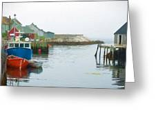 Boats In Peggy's Cove Greeting Card