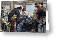 Smallpox Vaccination, 1885 Greeting Card