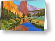 Smith Rock Canyon Greeting Card