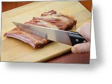 Smoked Pork Ribs Greeting Card