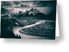 Snake River In The Tetons - 1930s Greeting Card