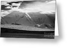 snow covered landscape of anvers island and neumayer channel Antarctica Greeting Card