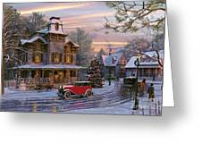 Snow Streets Greeting Card by Dominic Davison