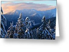 Snowy Mountain Landscape Greeting Card