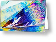 Sodium Thiosulphate Crystals In Polarized Light Greeting Card
