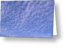 Soft Clouds In The Blue Sky Greeting Card