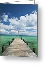 Sok San Pier On Long Beach In Koh Rong Island Cambodia Greeting Card